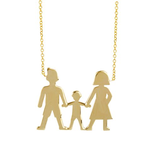 """Κολιέ """"Οικογένεια"""" σε χρυσό 9 καρατίων"""