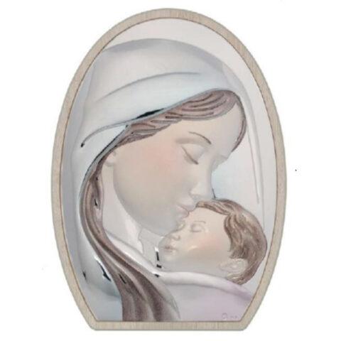 Ασημένια Εικόνα της Παναγίας με τον Χριστό.. Ασημένια καθολική εικόνα της Παναγίας με τον Χριστό